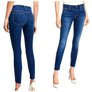 7 FOR ALL MANKIND The Ankle Skinny Blue Jeans